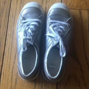 Josef Siebel pewter metallic sneakers
